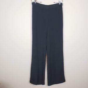 Lauren Ralph Lauren Silk Wide Leg Black Pants 12
